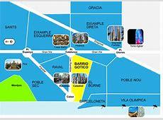 Les quartiers de Barcelone Erasmus España