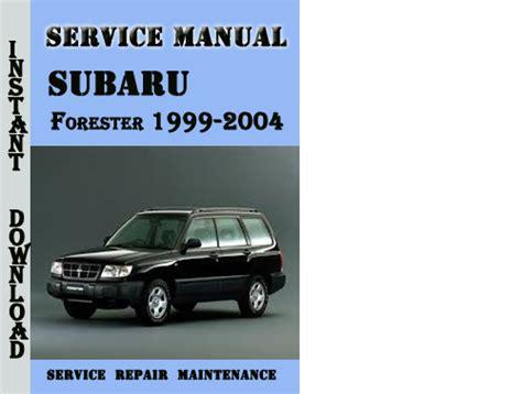 Subaru Forester 1999-2004 Service Repair Manual Pdf