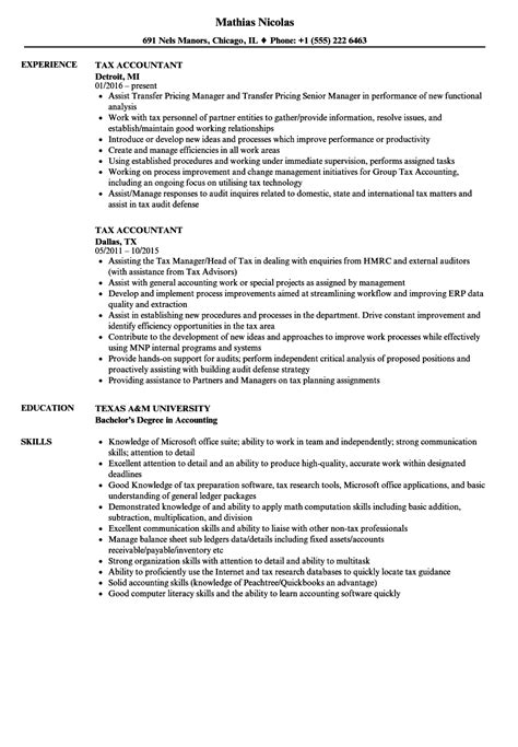 Tax Accountant Resume tax accountant resume sles velvet