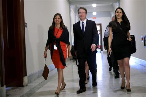 Zina Bash Is the Woman Sitting Behind Brett Kavanaugh