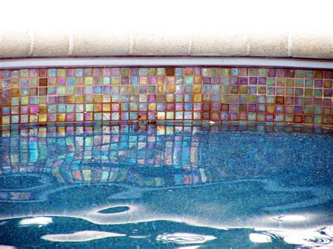 glass pool waterline tile glass tile outdoor design swimming pool glass tile
