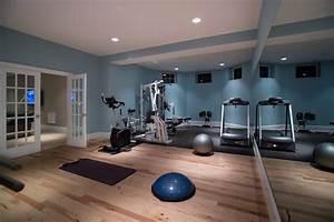 Home Basement Gymnasium and Dance Studio - Modern - Home
