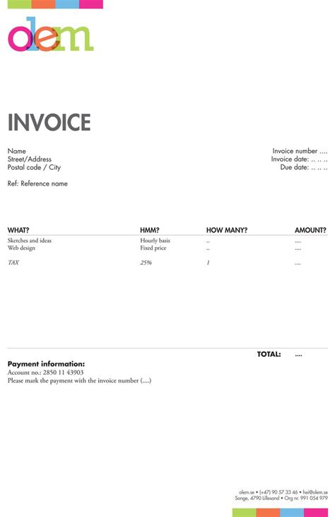invoices inspiration images  pinterest invoice
