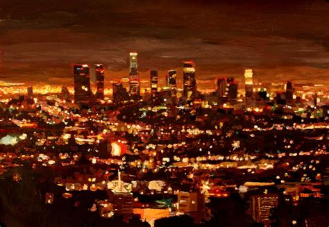 city of city of light los angeles painting by m
