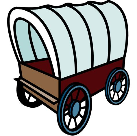 Wagon Clip by Covered Wagon Clipart Free Best Covered Wagon