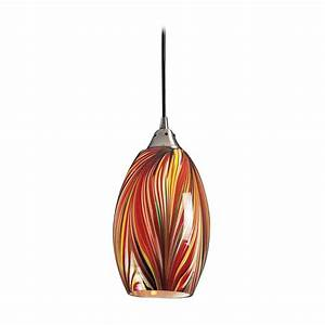 Modern mini pendant light with multi color glass m
