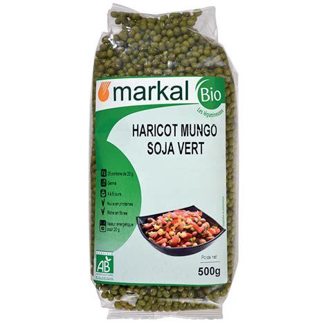 la cuisine des saveurs haricot mungo ou soja vert légumineuses sèches bio markal
