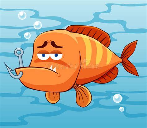 clipart pesci pesci con l amo di pesca illustrazione vettoriale