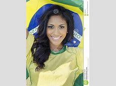 Happy Brazil Soccer Football Fan Stock Image Image 33083763