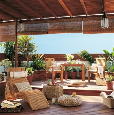 terrassengestaltung toskana flair rattan lounge moebel