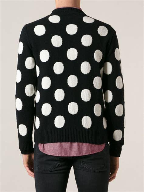 polka dot sweater lyst ami polka dot sweater in black for
