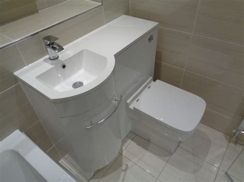 Wc Waschtisch by Beige Bathroom With Combined Storage Washbasin And Toilet