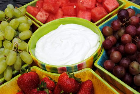 Fruit Dip With Marshmallow Cream And Cool Whip