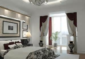 artistic window treatments for a master bedroom in black and white decoist