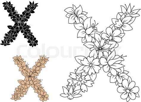 decorative vintage floral alphabet stock vector colourbox