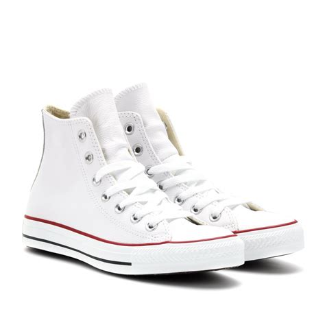 Converse High Tops White Leather britishflowerdeliverycouk