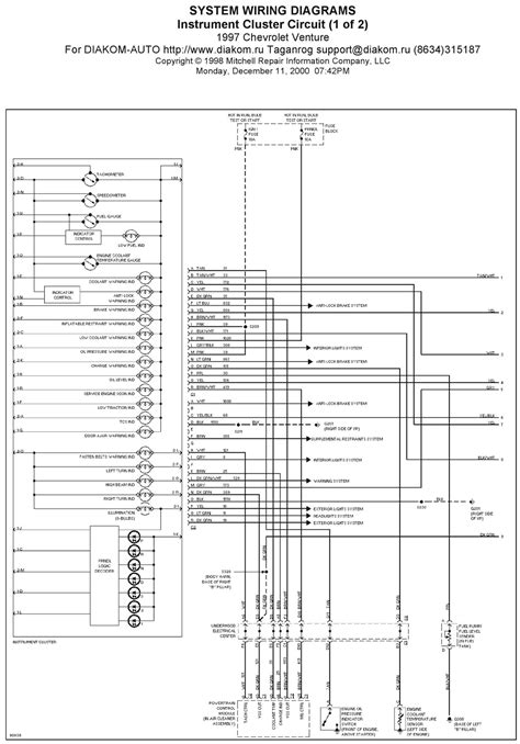 V Manual: 1997 Chevrolet Venture Instrument Cluster