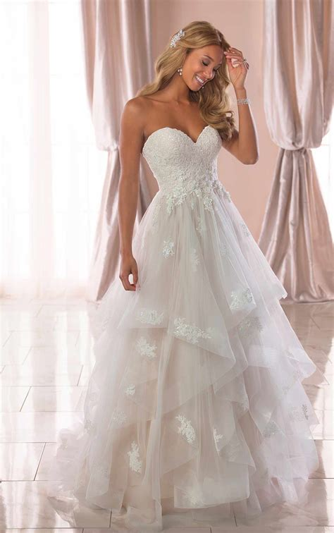 whimsical ballgown wedding dress with horsehair trim
