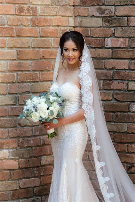 Cathedral Bridal Veil With Lace Trim Edge Helaine