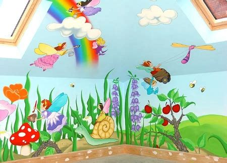 Cartoon Characters Or Animals Mural Painting For The Kids Room