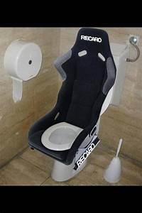recaro toilet seat automobiel decor garage interieur