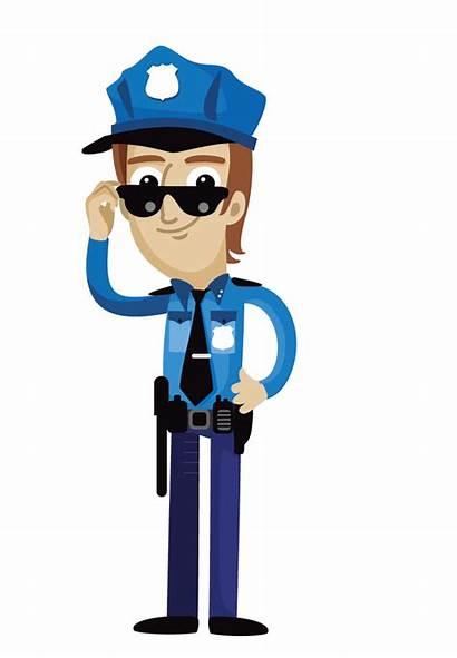 Police Clipart Polizist Clip Vision Cartoon Officer