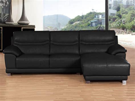 épaisseur cuir canapé canapé d 39 angle cuir de vachette quot perla quot 4 places noir