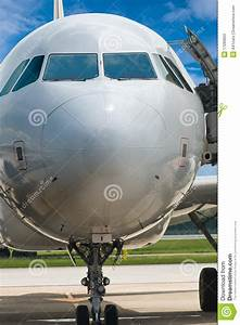 Closeup Of Airplane Nose Stock Image  Image Of Focus