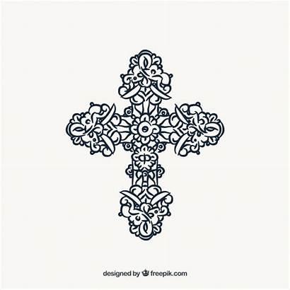 Cross Vector Ornamental Flat