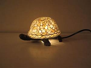stained glass turtle table lamp night light by With glass table lamp and night light