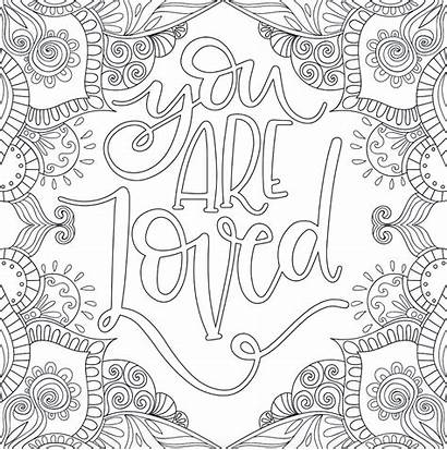 Coloring Pages Motivational Printable Inspirational Quotes Quote