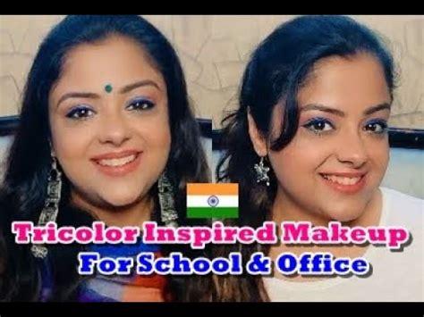 republic day makeup ideas  school teachers office