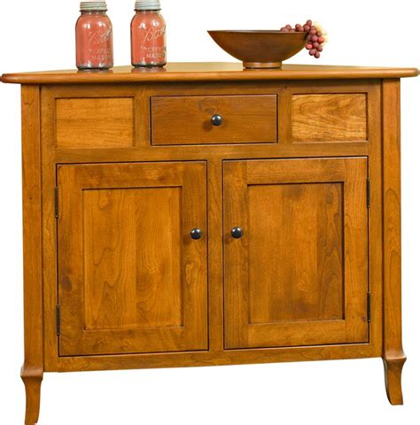 Black Storage Cabinets by Amish Jacob Martin Corner Buffet Cabinet