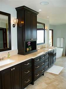 sleek, dark, cabinetry, is, the, focal, point, in, this