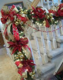 20 christmas staircase decorations ideas 2017 uk