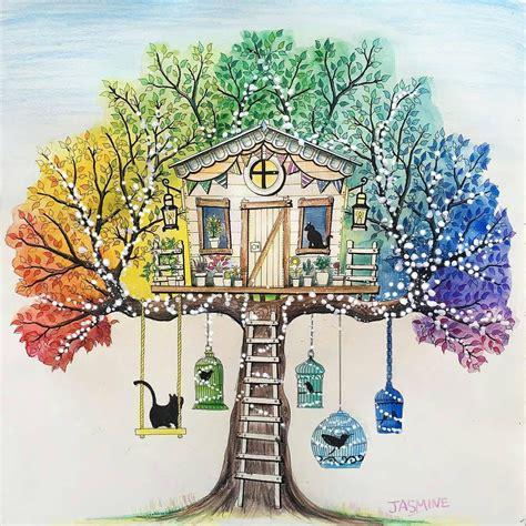 johanna basford secret garden tree house  swing