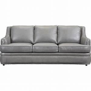 Gray leather nailhead sofa sofa menzilperdenet for Grey sectional sofa with nailhead trim