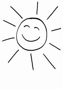 Ausmalbild Sonne Lachende Sonne Kostenlos Ausdrucken – Ich