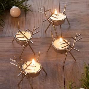Set, Of, Four, Reindeer, Tea, Light, Holders, By, Retreat, Home