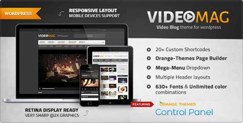 videomag powerful video wordpress theme  orange themes