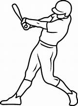 Baseball Coloring Pages Printable Simple sketch template