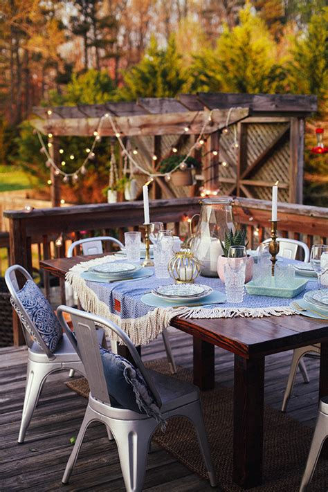 indoor outdoor easter table settings  honor  design