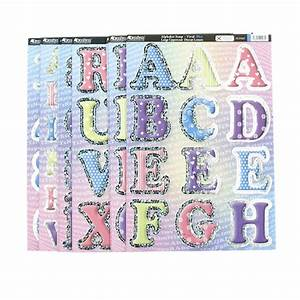 36 sheets of die cut foiled alphabet letters numbers With die cut letters and numbers