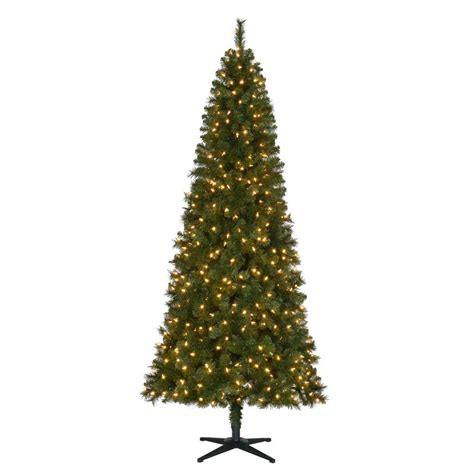 7 5 ft christmas tree with 1000 lights home accents holiday 7 5 ft pre lit led wesley slim