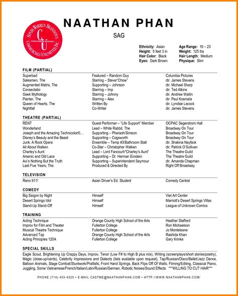 acting resume template word professional resume list
