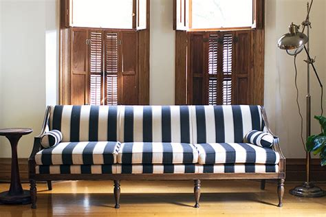 The Antique Striped Sofa  Making It Lovely