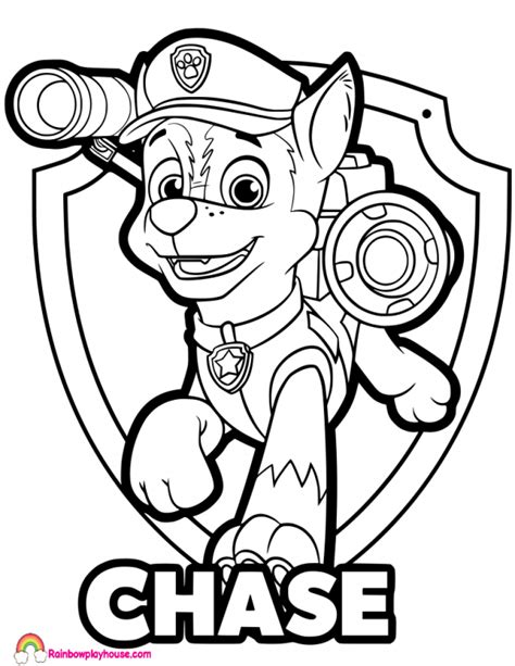 Paw Patrol Chase Silhouette at GetDrawings com Free for