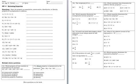 distributive property combining like terms worksheet the