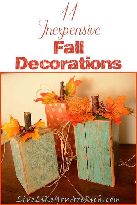 1000+ Ideas About Cheap Fall Decorations On Pinterest