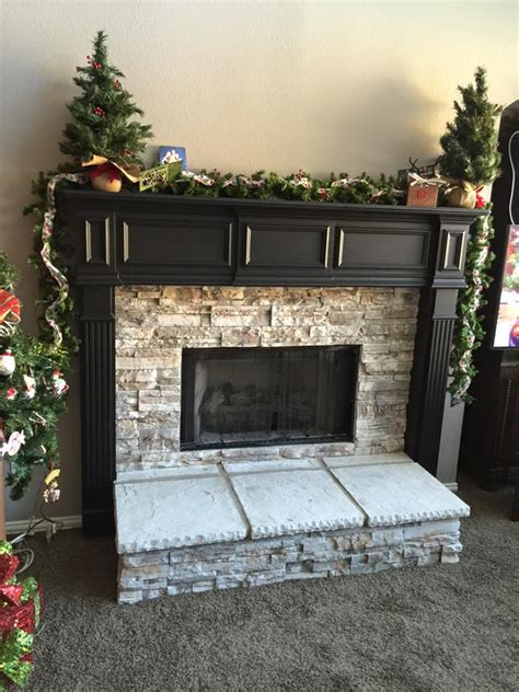 stone veneer fireplace remodel remodeling contractor